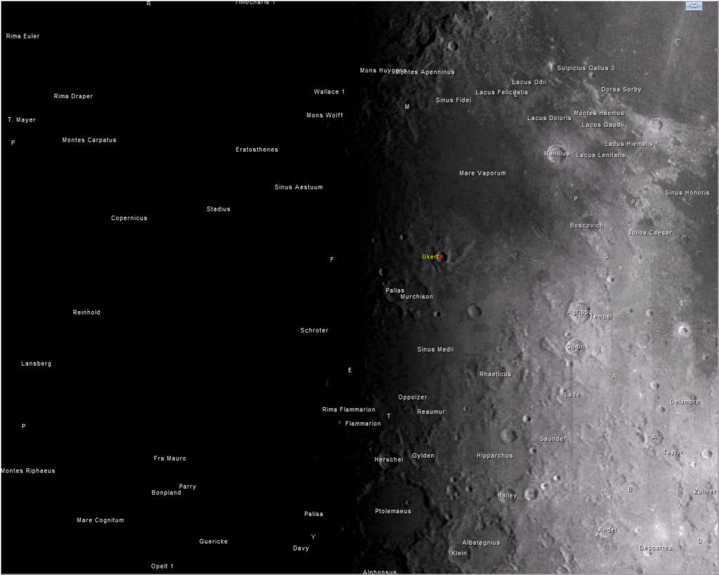 Lunar -V naciendo del crater Ukert
