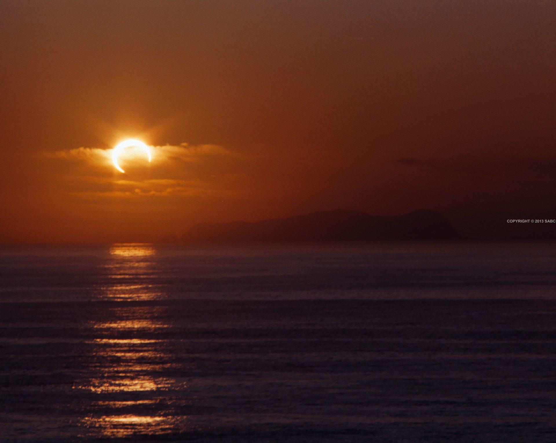 Eclipse anular Enero '92. copyright Adolfo Baltazar