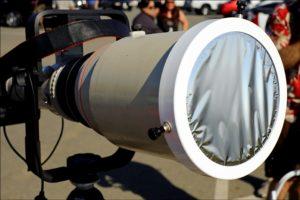Telescopio con filtro Mylar