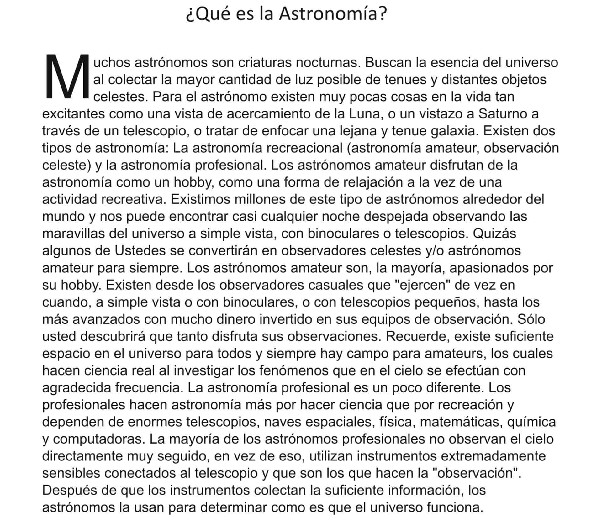 Que es la Astronomia?